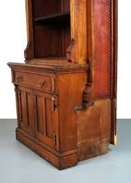 as is victorian renaissance revival bookcase cabinet gothic
