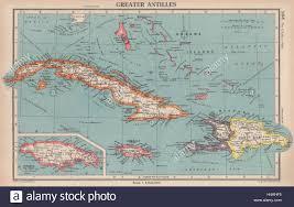 Map Jamaica Greater Antilles Cuba Hispaniola Jamaica Bahamas Haiti Dominican