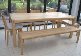 Dining Table And 2 Benches Habitat Radius Solid Oak Dining Set With Large Table 2 Benches