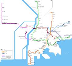 pusan on map urbanrail net asia south korea busan pusan metro