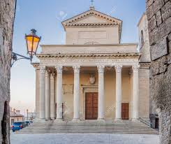 neoclassical style catholic church in neoclassical style with corinthian capitals