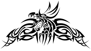 amazing tribal dragon tattoo design for lower back tattooimages biz