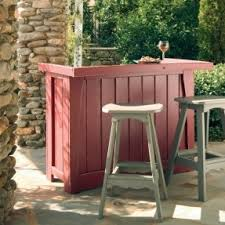 Outdoor Bar Table And Stools Rustic Outdoor Bar Stool Foter