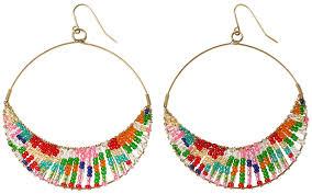 hoop beaded earrings black diamonds rings beaded earringslargenetherwings deviantart