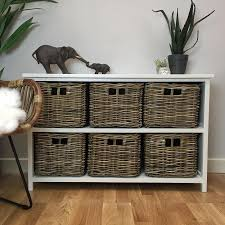 storage unit with wicker baskets vintage u0026 chic cabinets distressed shabby chic cabinets the
