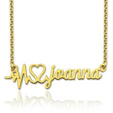 customized name necklace gold personalized heartbeat name necklace s day gift