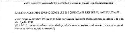 bureau d aide juridictionnelle versailles rapport de maître marc baroni jugement prononcé le 5 avril 1996 par