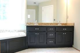 how to paint bathroom cabinets white painted bathroom cabinets before and after naderve info