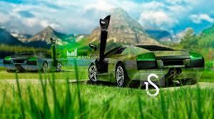 Lamborghini Murcielago Green - lamborghini murcielago two crystal nature cars 2013 el tony