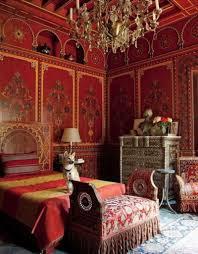 bedroom elegant moroccan bedroom design inspiration with red