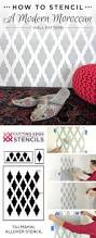 how to stencil a modern moroccan wall pattern stencil stories