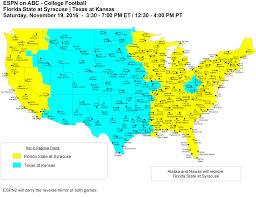 Syracuse Map College Football Maps 2016 Espn Mediazone U S
