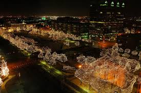 omaha ne holiday lights at gene leahy mall photo picture
