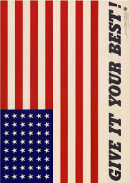 Ww2 Allied Flags Patriotic Poster From World War Ii Give It Your Best In Large