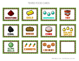 minecraft party free minecraft printables catch my party