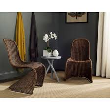 safavieh tana brown rattan dining chair set of 2 sea8009d set2