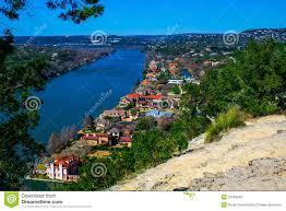 amazing mansions mount bonnell austin texas overlook with mansions stock photo