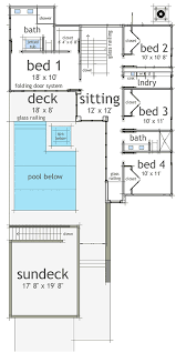 luxury beach plan with rooftop sundeck 44081td architectural