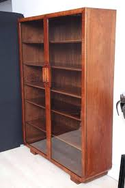 Ikea Bookcase With Glass Doors Bookcase With Solid Doors Walnut Cabinet With Glass Doors And