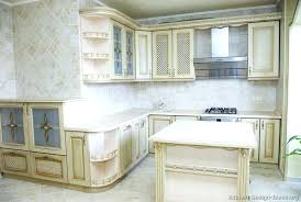 White Kitchen Cabinets Home Depot Traditional Antique White Kitchen White Distressed Wood Kitchen