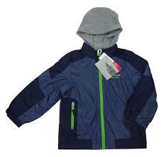 mossi youth boy s sledmate xt series snowmobile winter jacket blue