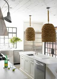 Wicker Light Fixture by Inspirations On The Horizon Coastal Kitchens