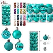 teal shatterproof cool tree ornaments