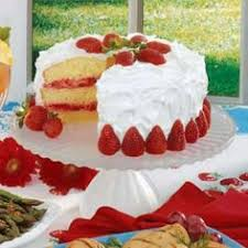 country cake with strawberries and whipped cream recipe