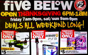 black friday 2017 five below offers a variety of cheap deals