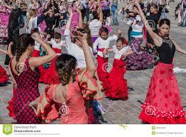 flamenco dancers fiesta in spain editorial stock image image