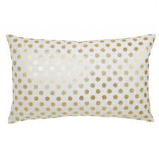 Gold Polka Dot Bedding Wilson Textiles Gold Polka Dot Pillow