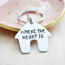 Home Is Where The Heart Is Where The Heart Is Keychain New Home Keychain Home Is