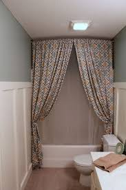 hanging shower curtain from ceiling how