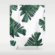palm shower curtains society6