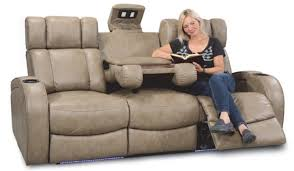 taupe dura gel fabric 3 seat power sofa with led lighted and