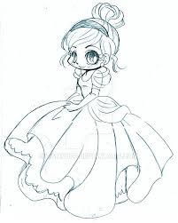 cinderella chibi sketch yampuff deviantart