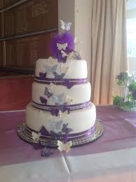 cadbury purple and ivory butterfly wedding cake awesome cakes