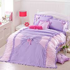 Purple Girls Bedding by Colorful Bedding For Girls Sweet Heart Purple Romantic Home