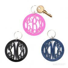 Monogram Key Necklace Monogram Keychains Marleylilly