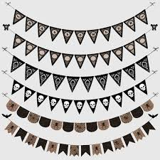 halloween transparent background halloween gothic bunting banners cliparts pack halloween party