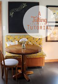kitchen additions new breakfast nook tufting tutorial pepper