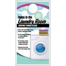Laundry Room Hangers - door hanger rules of the laundry room free shipping help