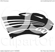 jaguar clipart clipart of a black and white panther cougar or jaguar mascot head