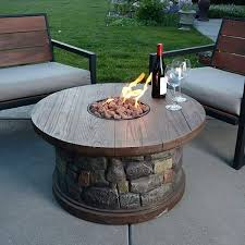 outdoor dining table with built in fire pit backyard patio