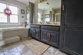 Painting A Bathroom Cabinet - remodelaholic diy refinished and painted cabinet reviews