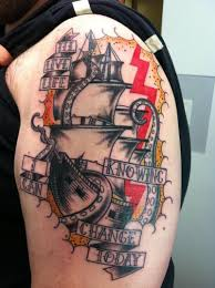 traditional ship tattoo by noelle lamonica tattoonow