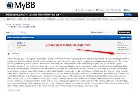 extend mybb view unread posts