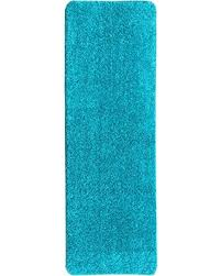 Aqua Runner Rug On Sale Now 15 Ottomanson Luxury Collection Blue Runner Rug