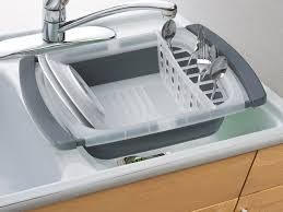 Prepworks Collapsible OvertheSink Dish Drainer - Kitchen sink plate drainer
