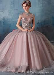 2017 newest ball gown high neck organza beaded cheap modest bridal
